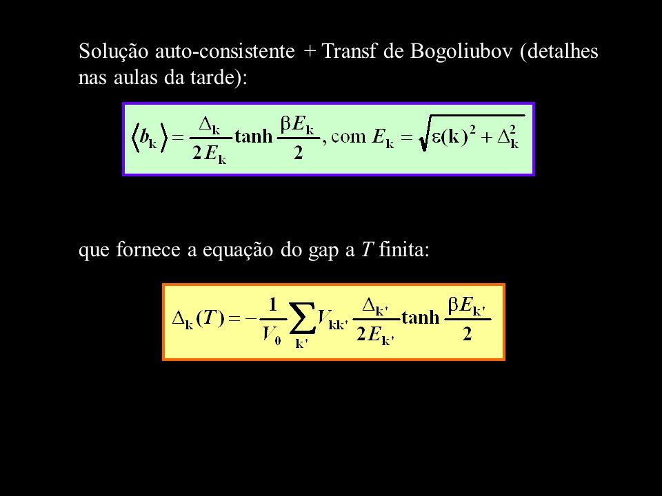 Solução auto-consistente + Transf de Bogoliubov (detalhes