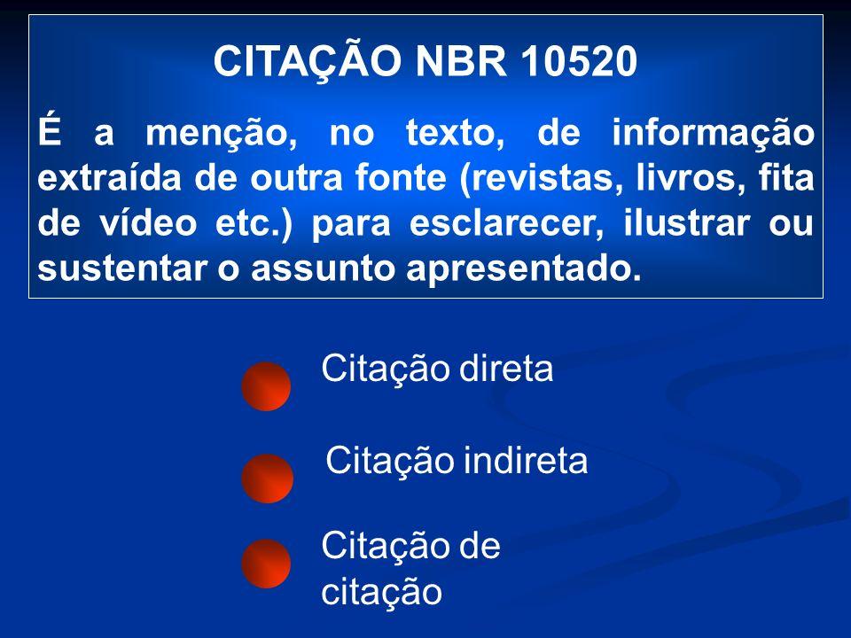 CITAÇÃO NBR 10520