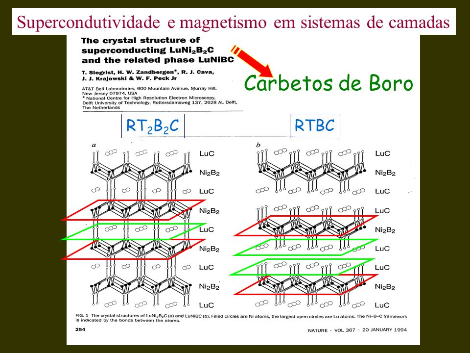 Supercondutividade e magnetismo em sistemas de camadas