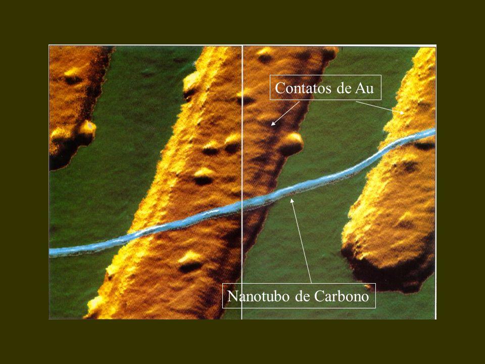 Contatos de Au Nanotubo de Carbono