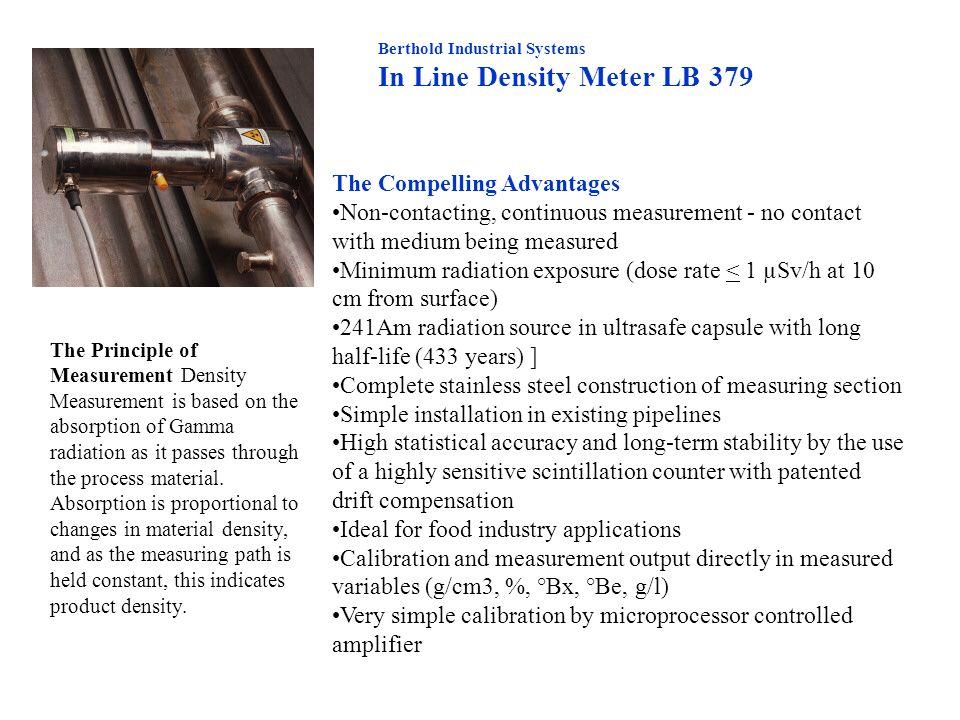 In Line Density Meter LB 379
