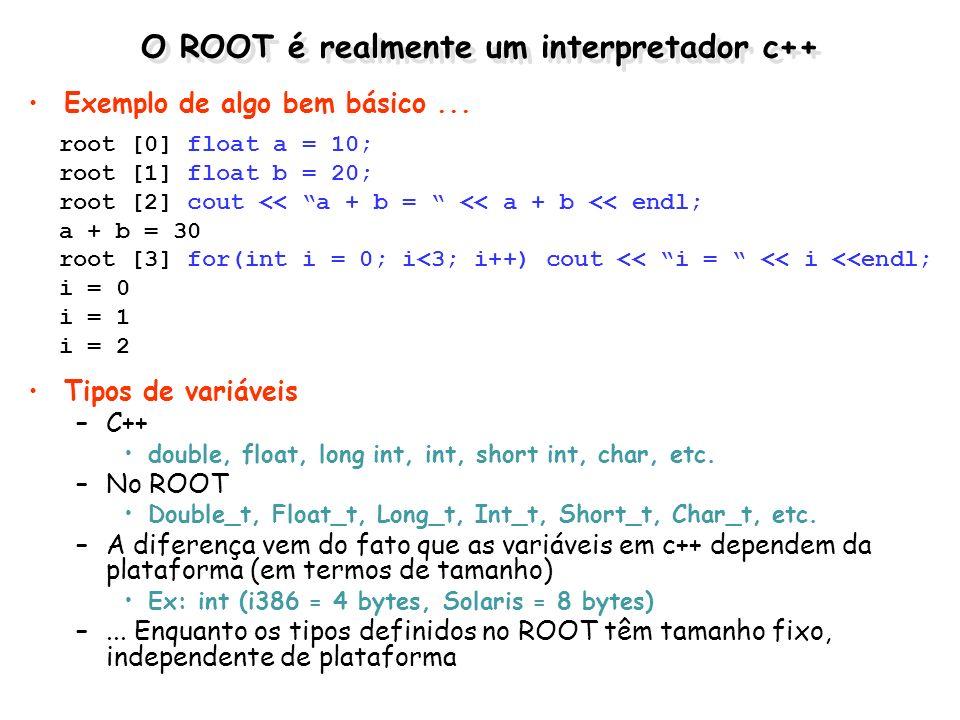 O ROOT é realmente um interpretador c++