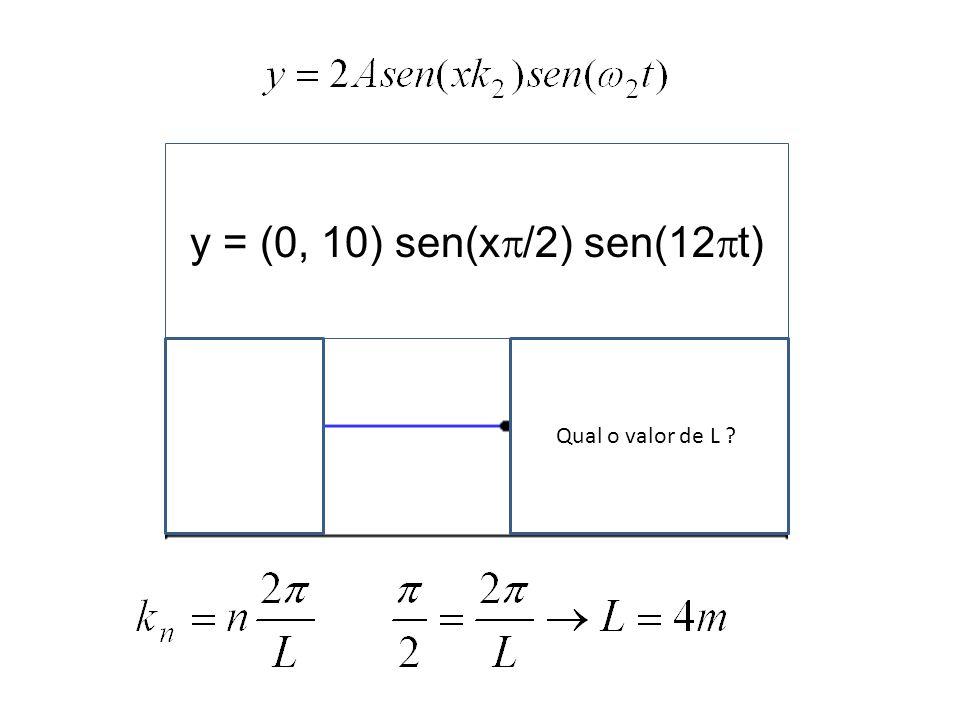y = (0, 10) sen(x/2) sen(12t) Qual o valor de L l