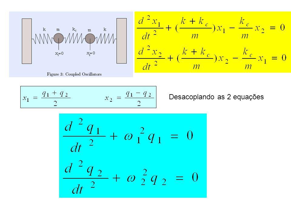 Desacoplando as 2 equações