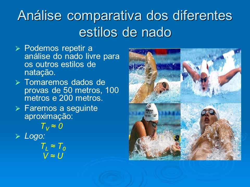 Análise comparativa dos diferentes estilos de nado