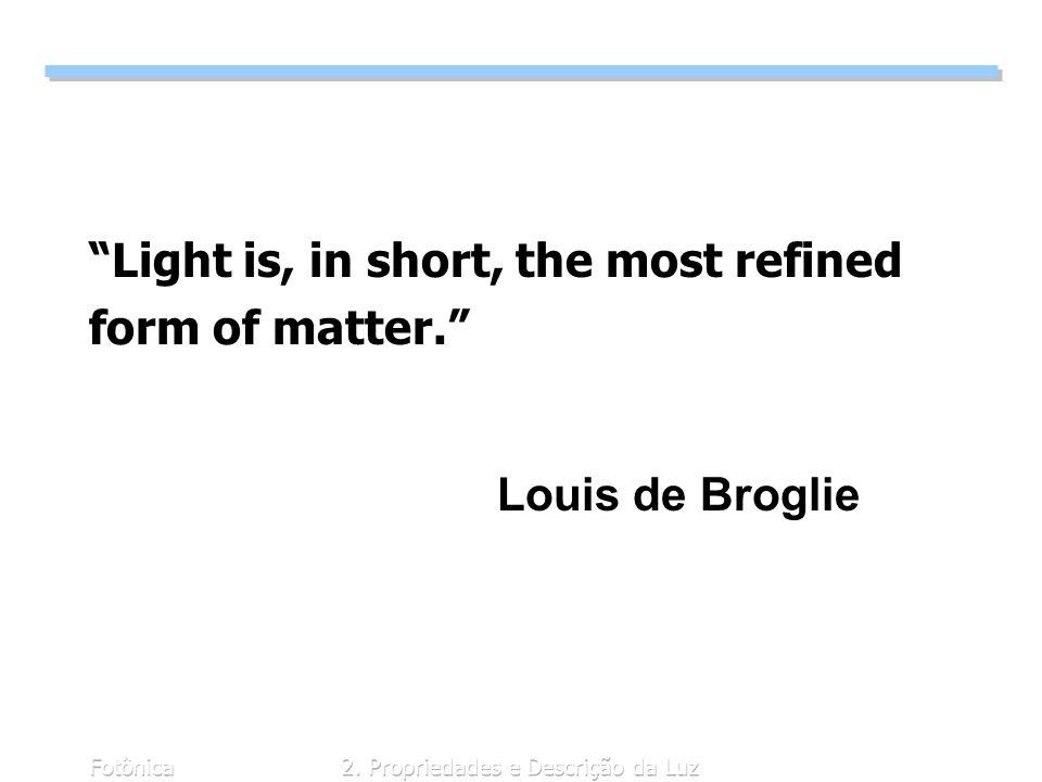 2. Propriedades e Descrição da Luz