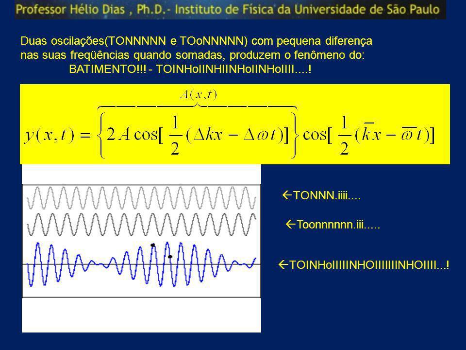 Duas oscilações(TONNNNN e TOoNNNNN) com pequena diferença