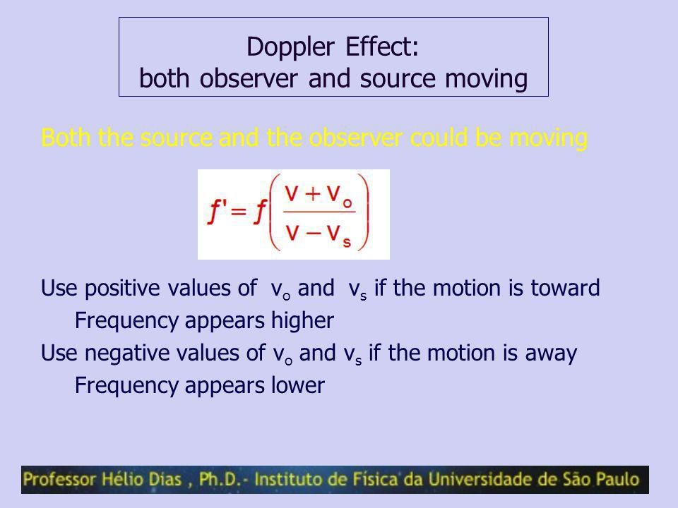 Doppler Effect: both observer and source moving
