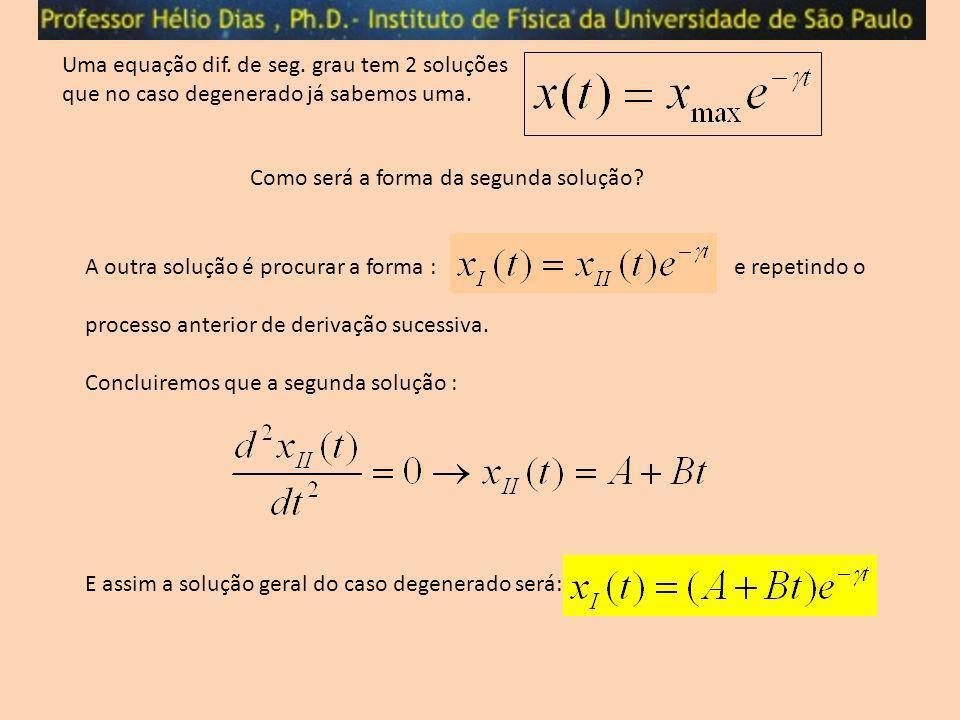 Uma equação dif. de seg. grau tem 2 soluções