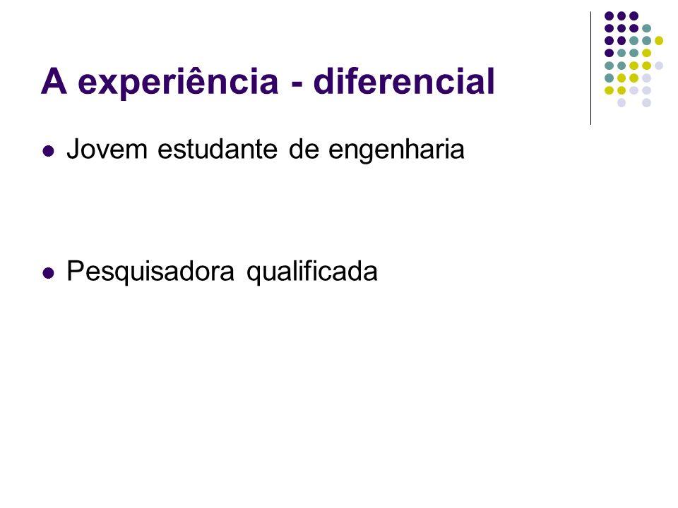 A experiência - diferencial