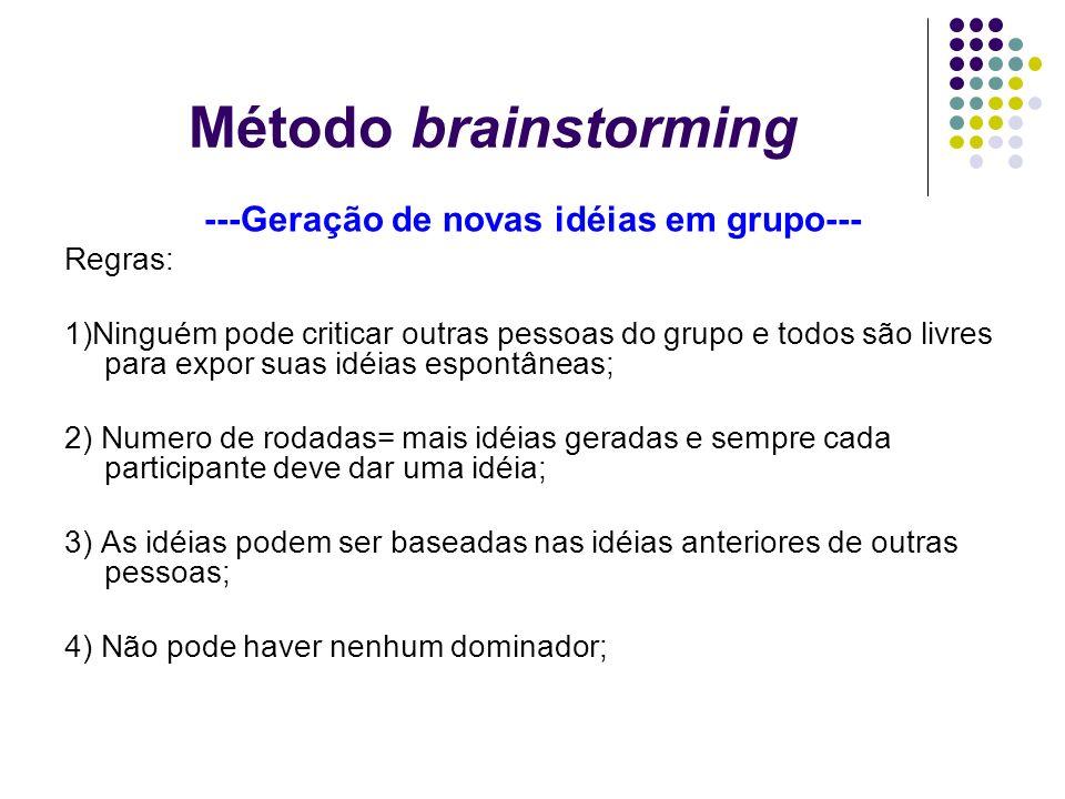 ---Geração de novas idéias em grupo---