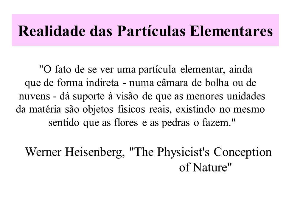 Realidade das Partículas Elementares