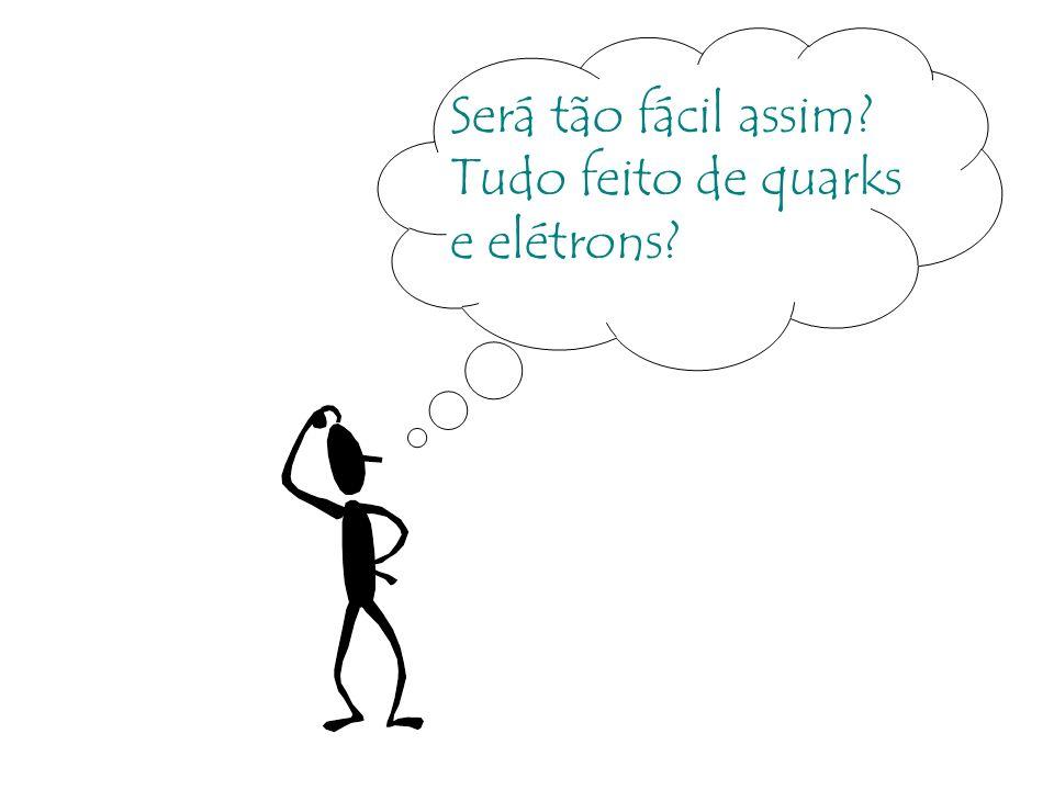 Será tão fácil assim Tudo feito de quarks e elétrons