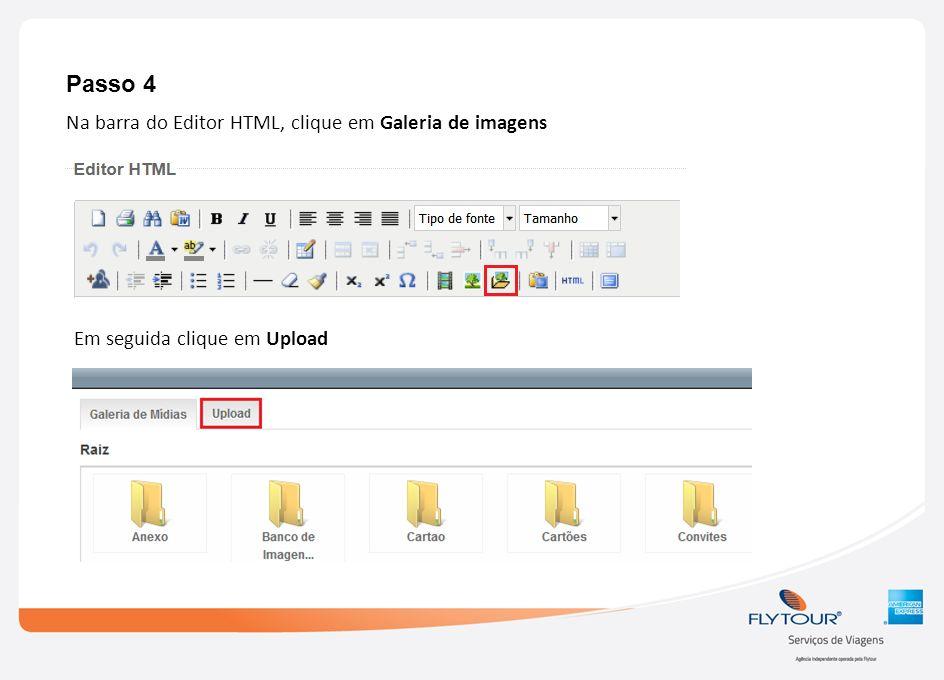 Passo 4 Na barra do Editor HTML, clique em Galeria de imagens