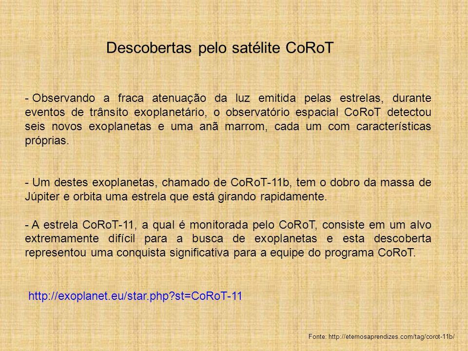 Descobertas pelo satélite CoRoT