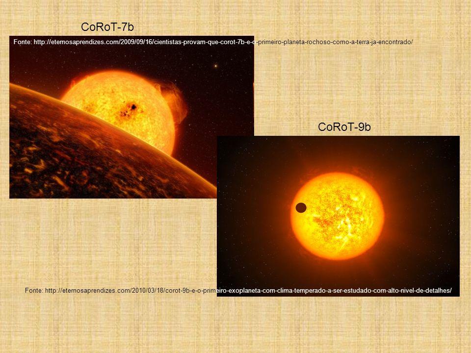 CoRoT-7b Fonte: http://eternosaprendizes.com/2009/09/16/cientistas-provam-que-corot-7b-e-o-primeiro-planeta-rochoso-como-a-terra-ja-encontrado/