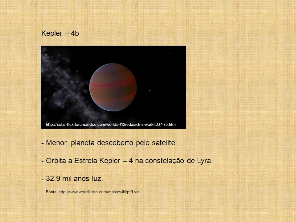 Menor planeta descoberto pelo satélite.