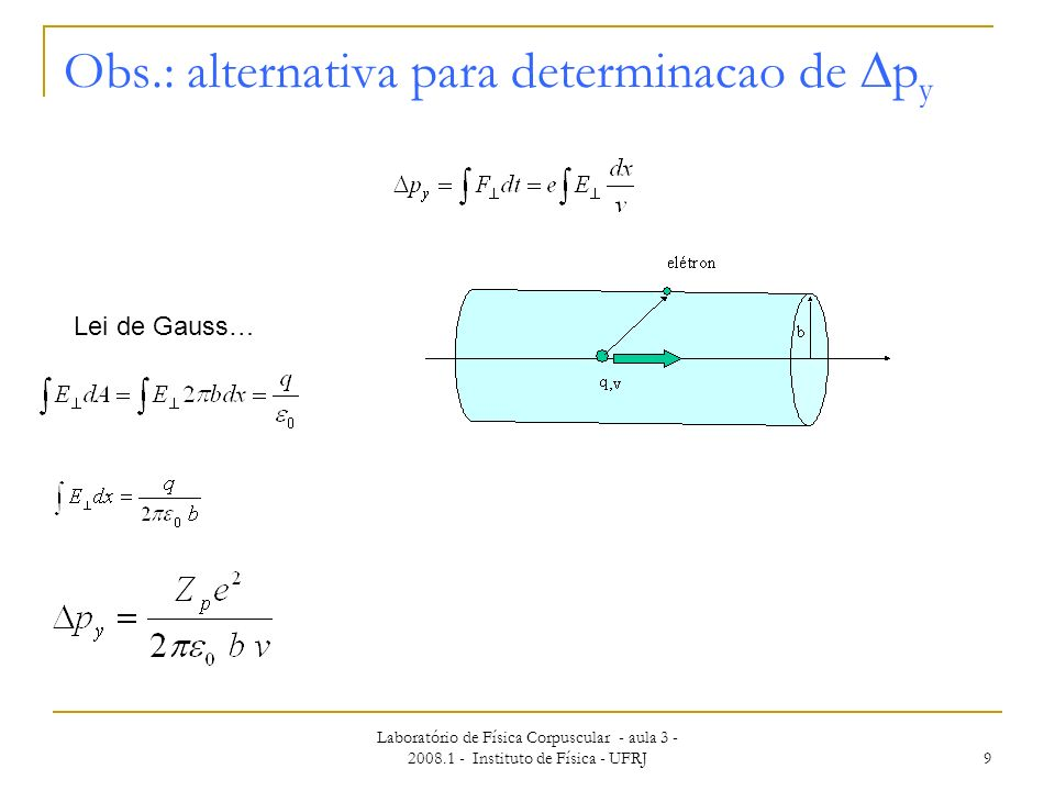 Obs.: alternativa para determinacao de Dpy