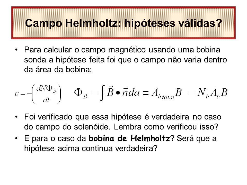 Campo Helmholtz: hipóteses válidas