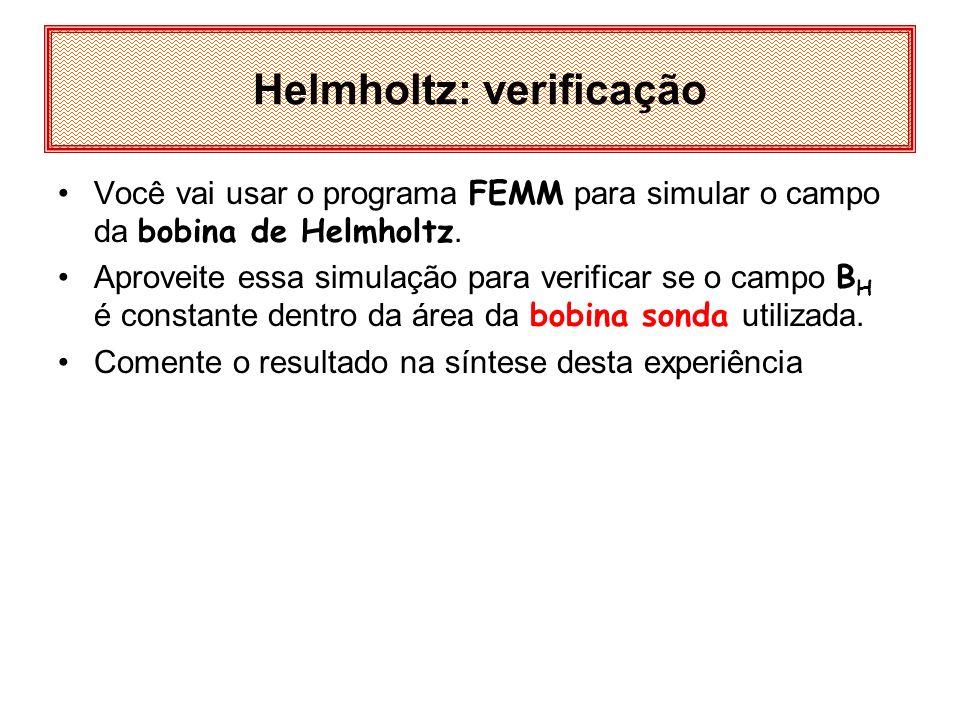 Helmholtz: verificação