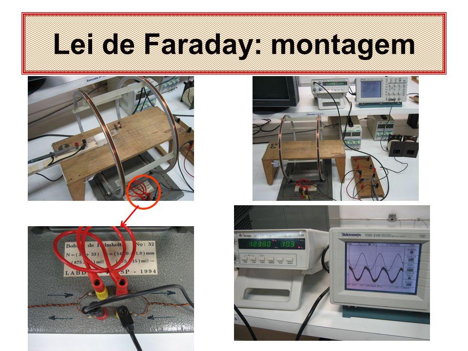Lei de Faraday: montagem
