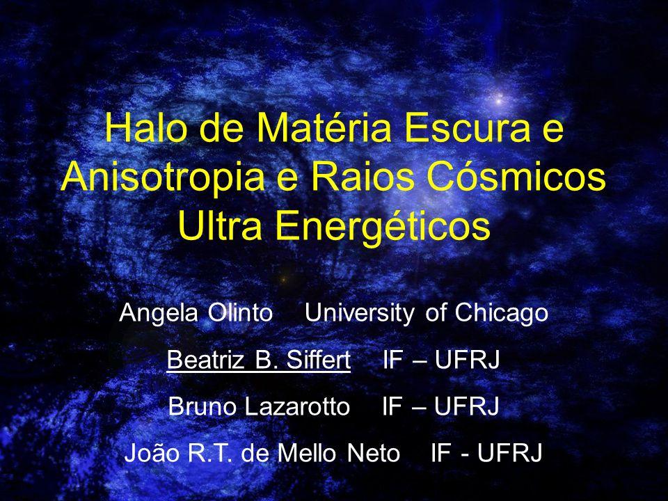 Halo de Matéria Escura e Anisotropia e Raios Cósmicos Ultra Energéticos
