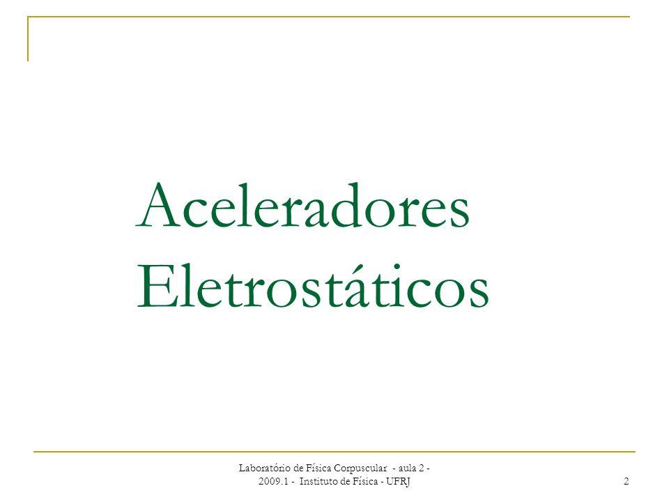 Aceleradores Eletrostáticos