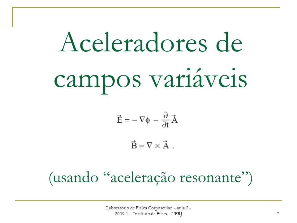 Aceleradores de campos variáveis (usando aceleração resonante )