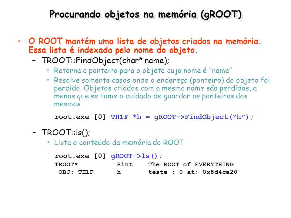 Procurando objetos na memória (gROOT)
