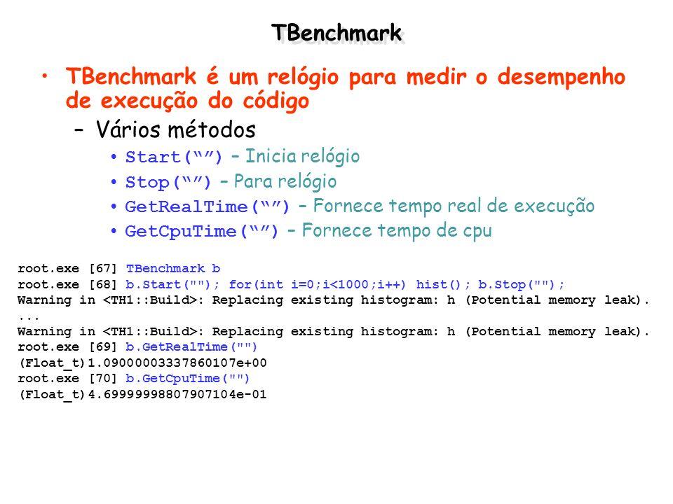 TBenchmark é um relógio para medir o desempenho de execução do código