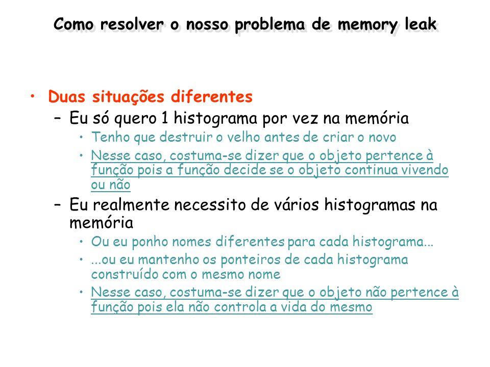 Como resolver o nosso problema de memory leak