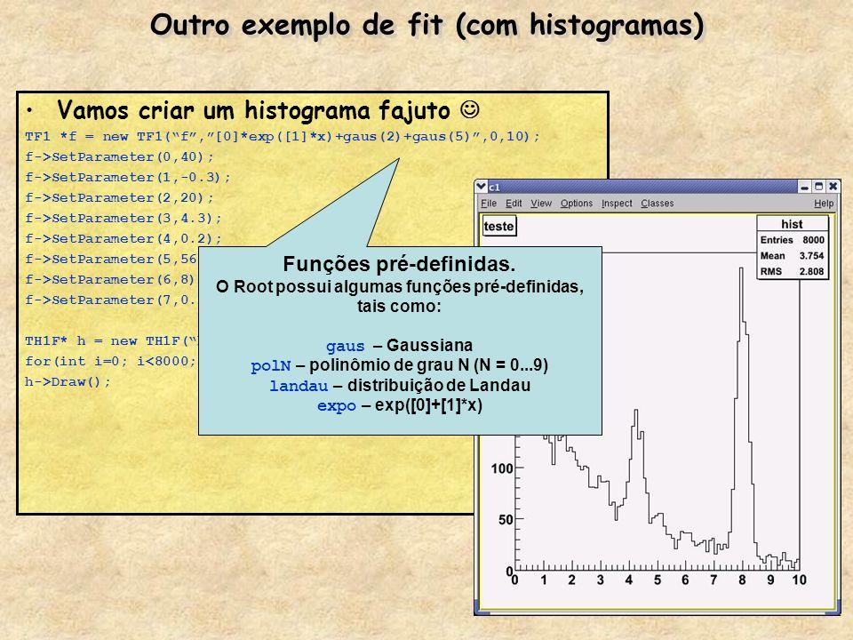 Outro exemplo de fit (com histogramas)