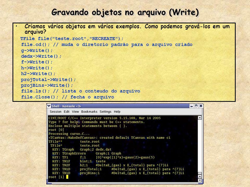 Gravando objetos no arquivo (Write)