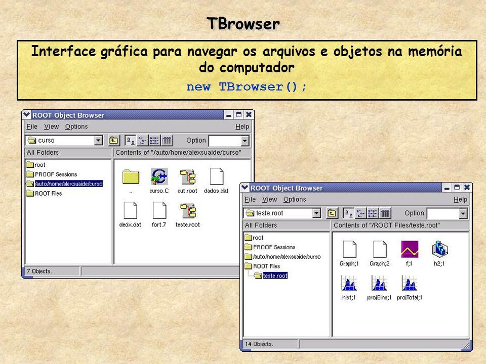TBrowserInterface gráfica para navegar os arquivos e objetos na memória do computador.
