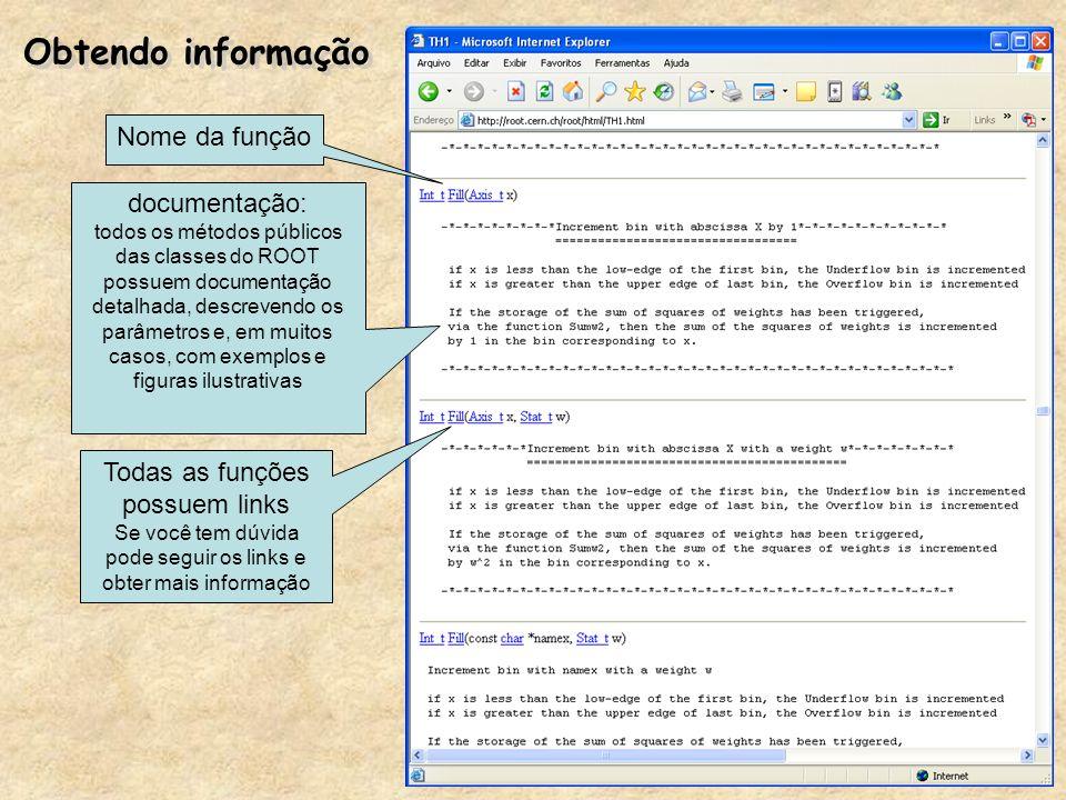 Obtendo informação Nome da função documentação:
