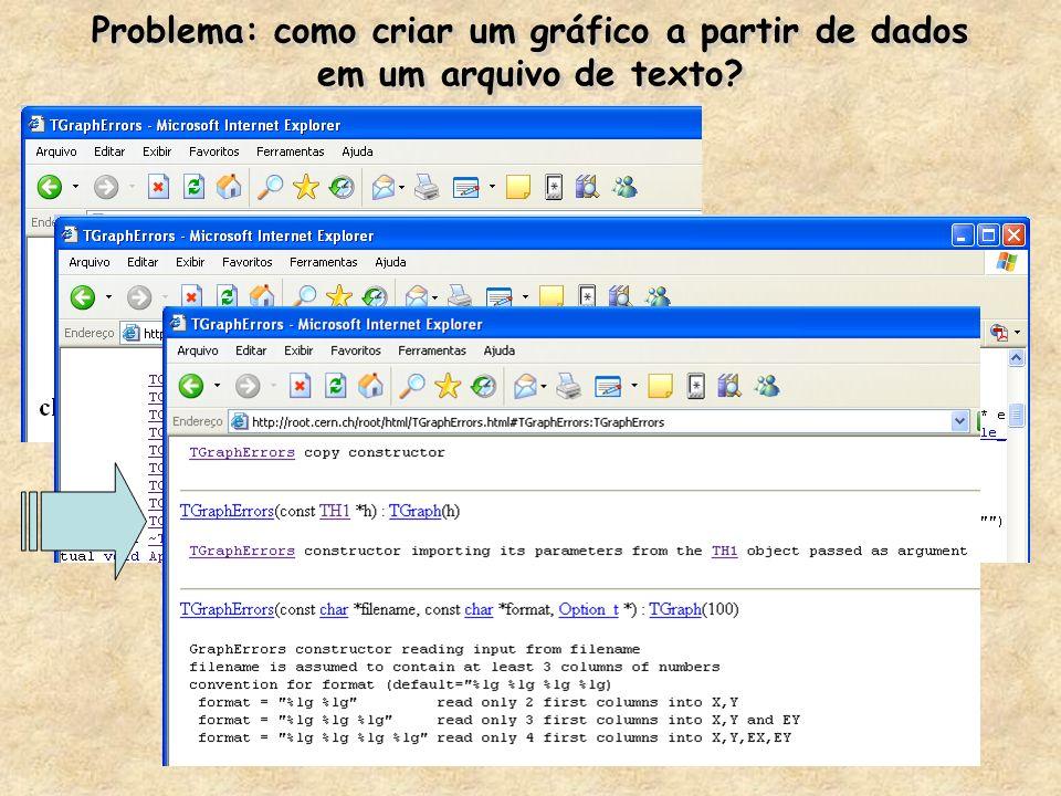 Problema: como criar um gráfico a partir de dados em um arquivo de texto