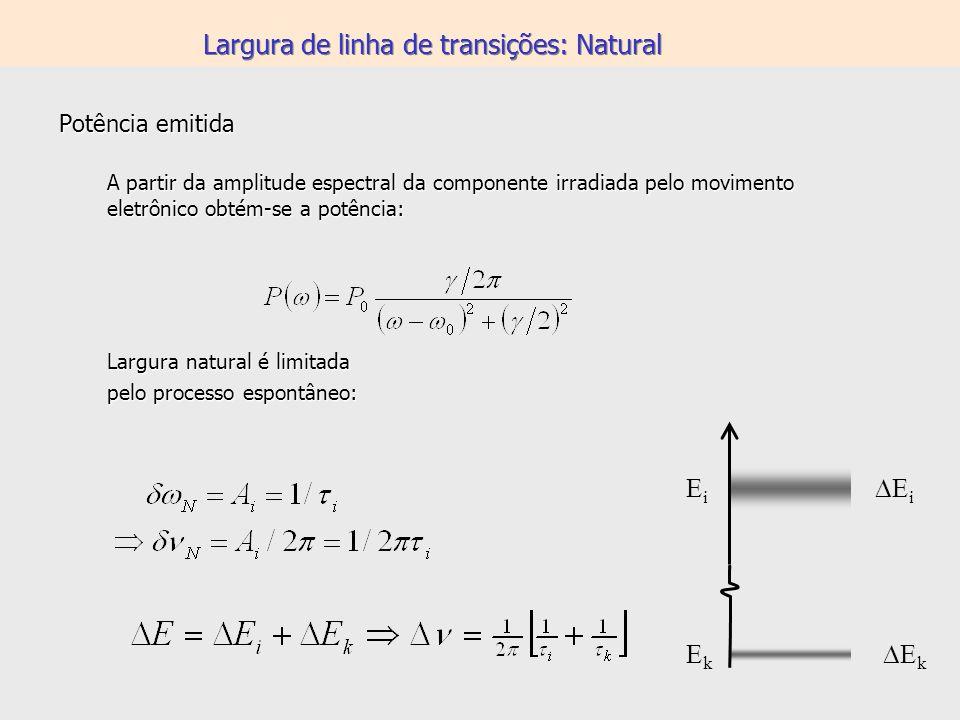 Largura de linha de transições: Natural