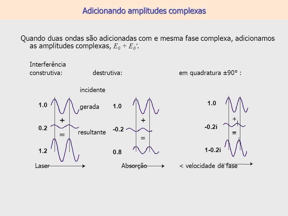 Adicionando amplitudes complexas