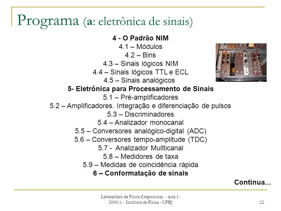 Programa (a: eletrônica de sinais)