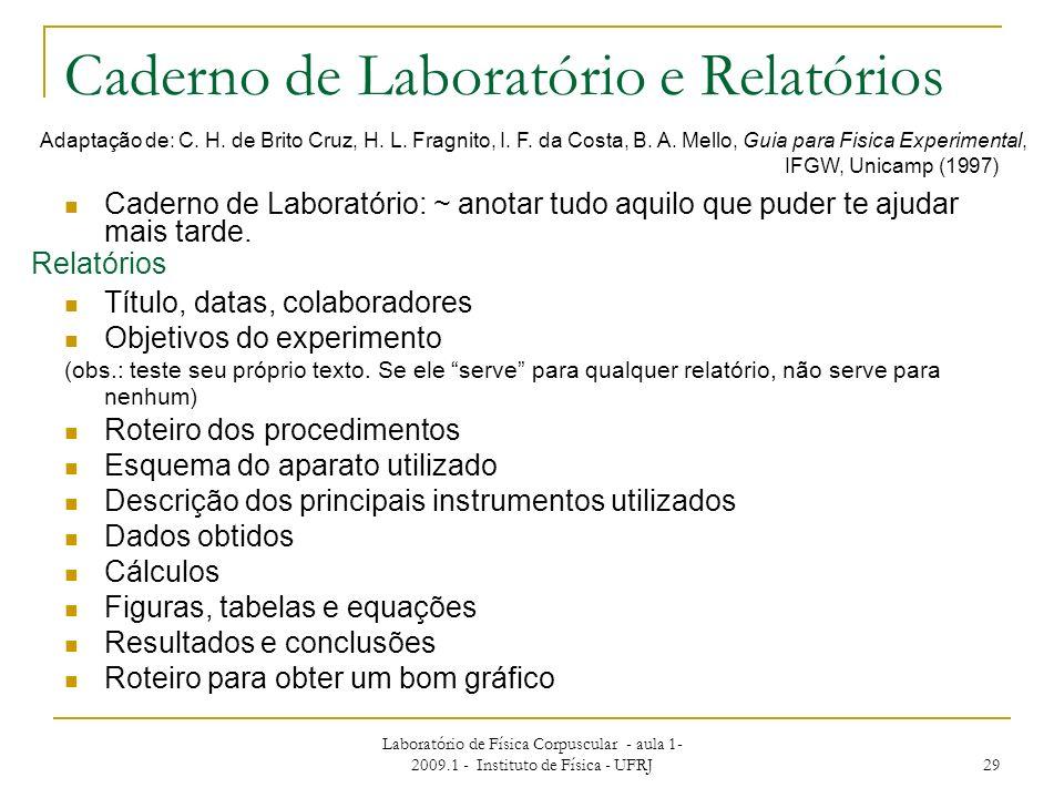 Caderno de Laboratório e Relatórios