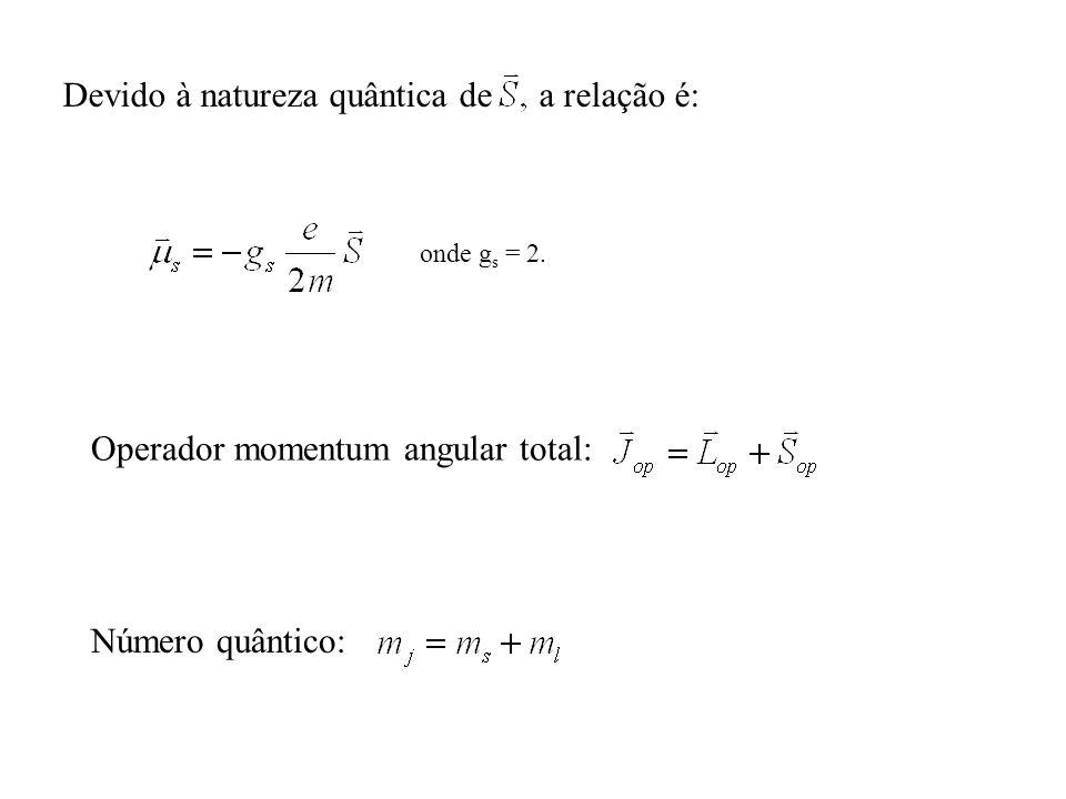 Devido à natureza quântica de S a relação é: