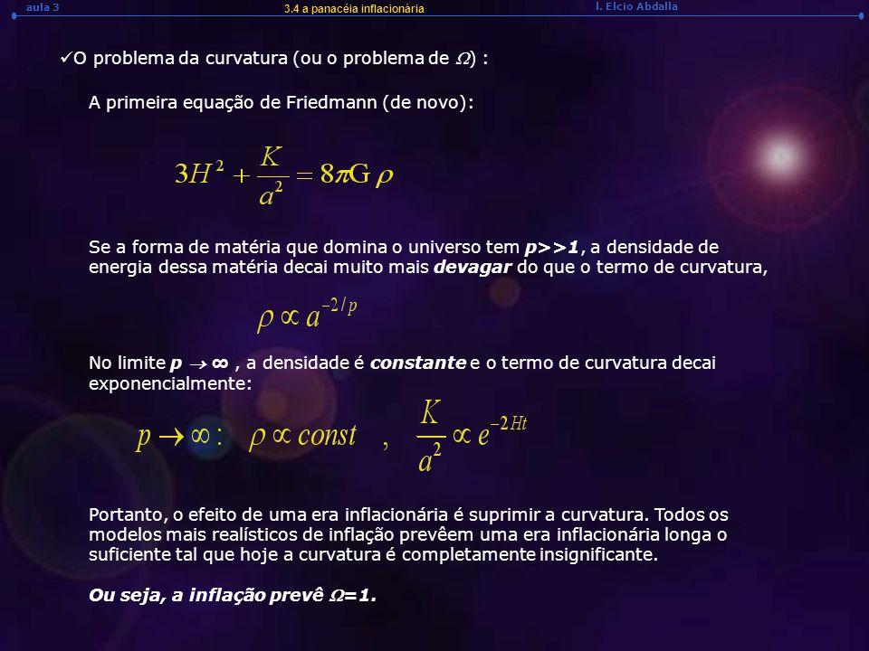 O problema da curvatura (ou o problema de W) :