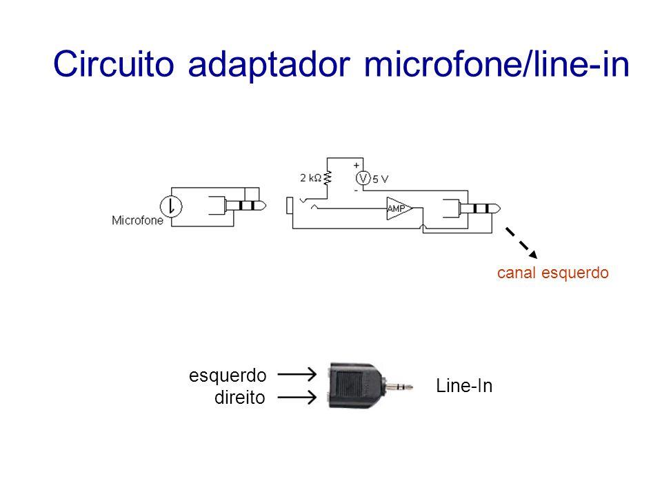 Circuito adaptador microfone/line-in