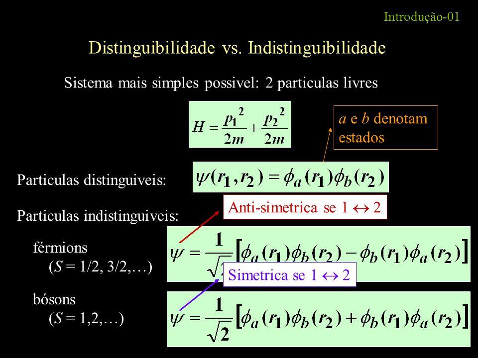Distinguibilidade vs. Indistinguibilidade