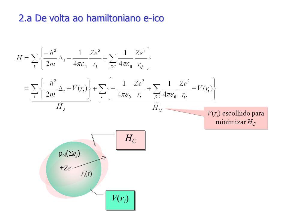 V(ri) escolhido para minimizar HC