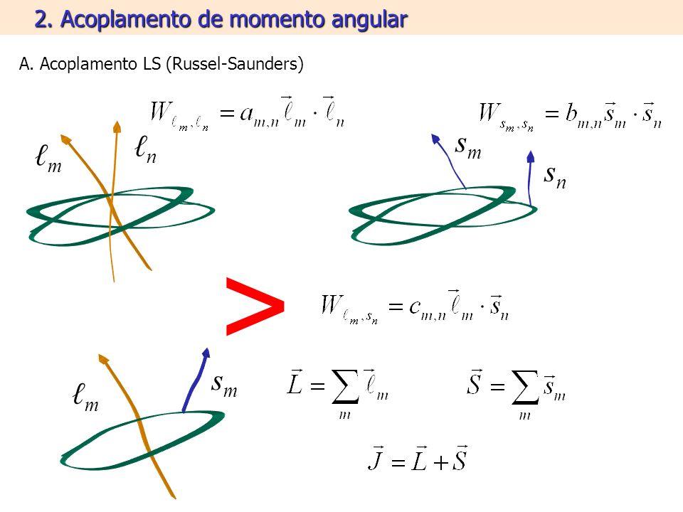 2. Acoplamento de momento angular