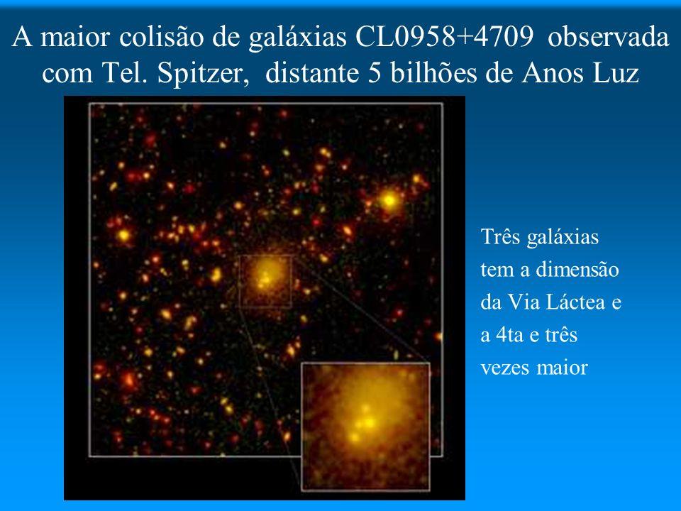 A maior colisão de galáxias CL0958+4709 observada com Tel