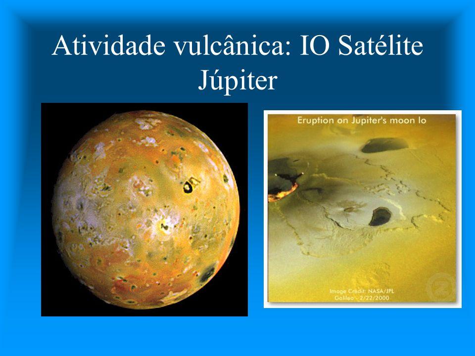 Atividade vulcânica: IO Satélite Júpiter