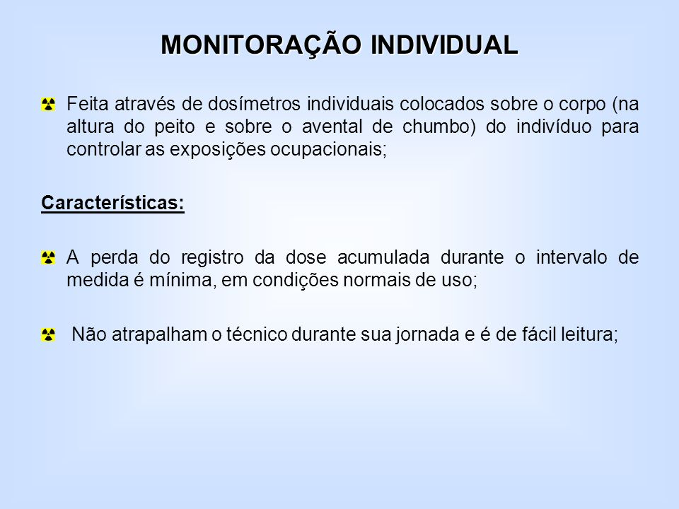 MONITORAÇÃO INDIVIDUAL