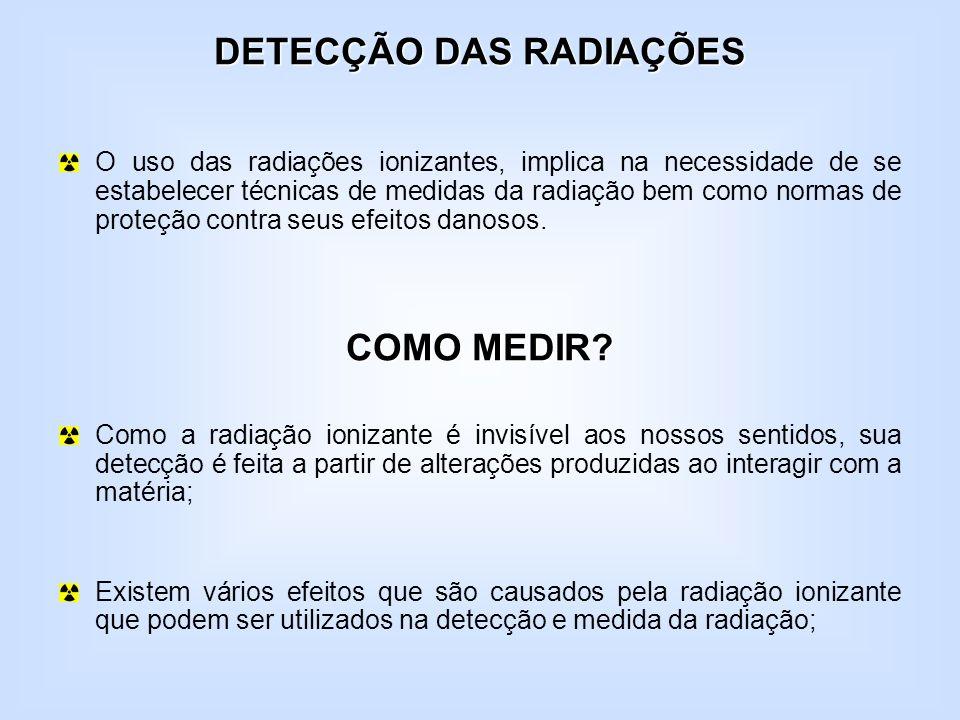 DETECÇÃO DAS RADIAÇÕES